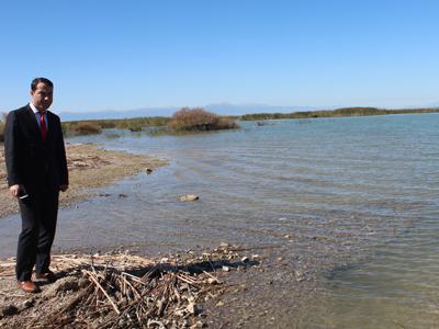 Beyşehir Gölü'nde sular azaldı