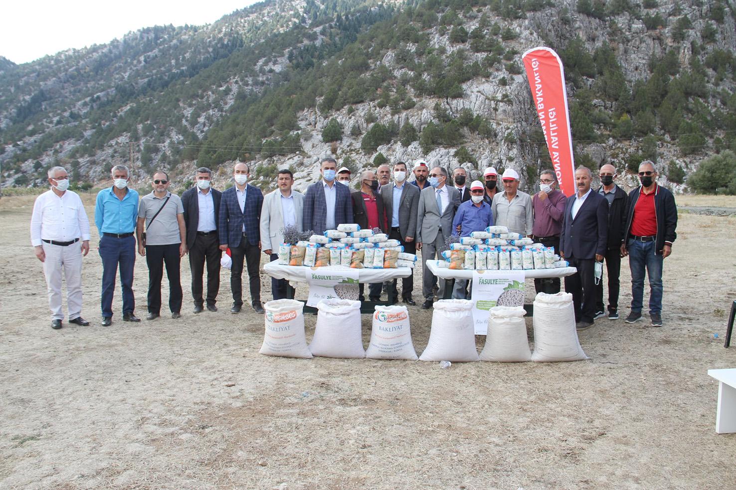 Derebucak'ta Kuru Fasulye Hasat Şenliği Gerçekleştirildi