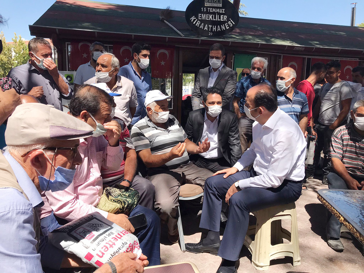 Başkan Altay Ereğli'de Vatandaşlarla Buluştu, Yatırımları İnceledi
