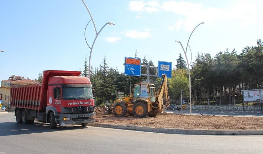 Beyşehir'de Kavşaklar Yeniden Düzenleniyor