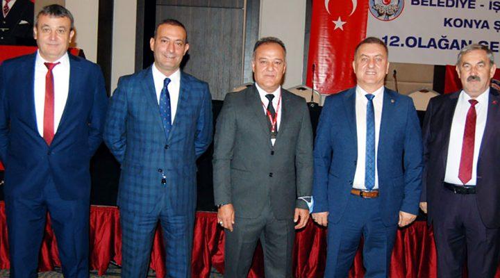 Belediye İş Konya'da İbrahim Koral güven tazeledi